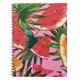 Delicious Summer Fruit Melon tasty Design Notebooks