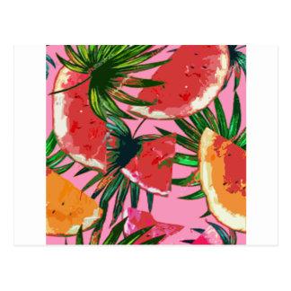 Delicious Summer Fruit Melon tasty Design Postcard