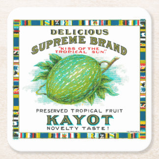 Delicious Supreme Kayot Preserves Square Paper Coaster