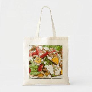 Delicious Tomato Avocado and feta cheese salad Canvas Bags