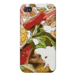 Delicious Tomato Avocado and feta cheese salad Cover For iPhone 4