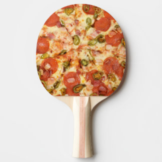 delicious whole pepperoni jalapeno pizza photo ping pong paddle