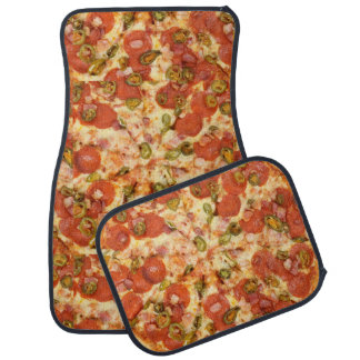 delicious whole pizza pepperoni jalapeno photo car mat
