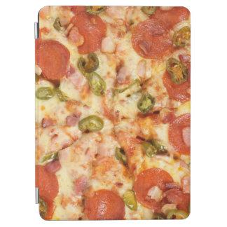 delicious whole pizza pepperoni jalapeno photo iPad air cover