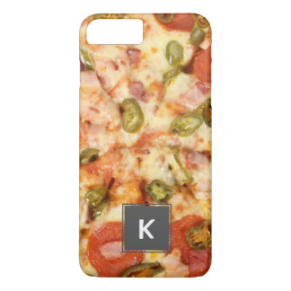 delicious whole pizza pepperoni jalapeno photo iPhone 8 plus/7 plus case
