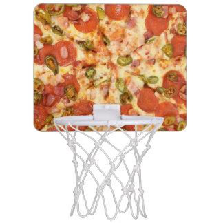 delicious whole pizza pepperoni jalapeno photo mini basketball hoop