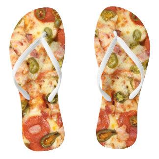 delicious whole pizza pepperoni jalapeno photo thongs