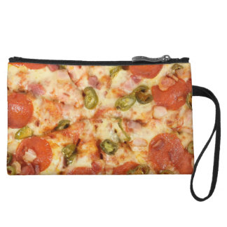 delicious whole pizza pepperoni jalapeno photo wristlet purses