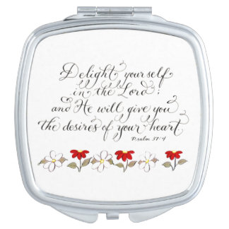 Delight in the Lord inspiration verse Makeup Mirrors