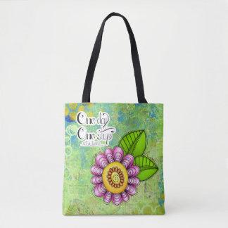 Delight Positive Thought Doodle Flower Bag