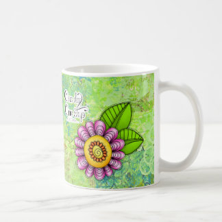 Delight Positive Thought Doodle Flower Mug