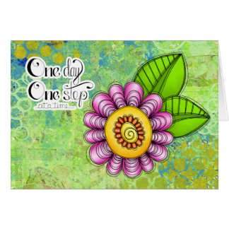 Delight Positive Thought Doodle Flower Note Card