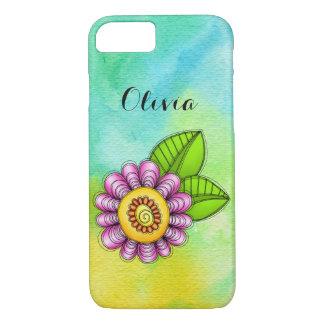 Delight Watercolor Doodle Flower iPhone 7 Case