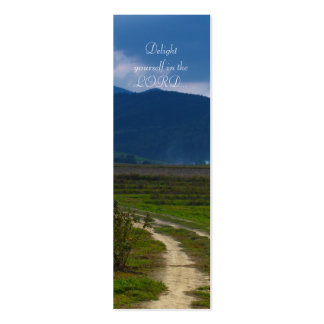 Delight yourself in the LORD  - Bookmark Business Card Templates