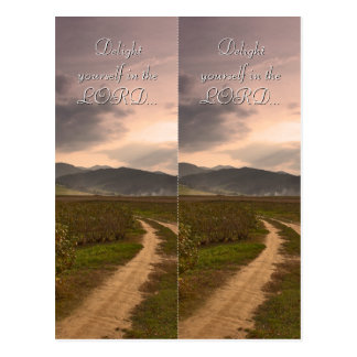 Delight yourself in the LORD - Bookmark Post Cards