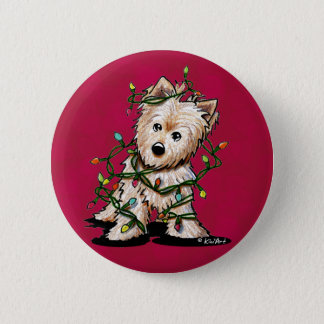 DeLighted Terrier Dog 6 Cm Round Badge