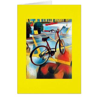 Delightful bicycle vignette card