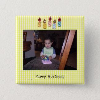 Delightful Birthday Photo Template 15 Cm Square Badge