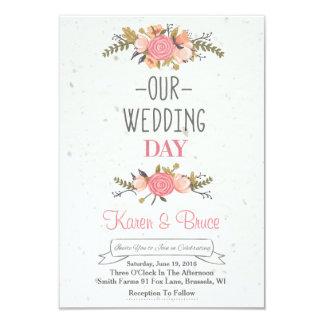 Delightful Blooming Rose Wedding Invitation