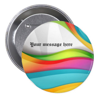 Delightful Colorful Rainbow Wave Button