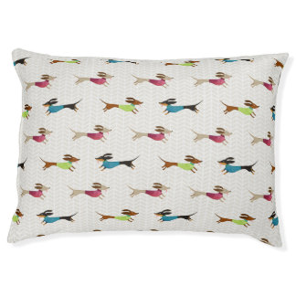 Delightful Dachshund Pattern Pet Bed