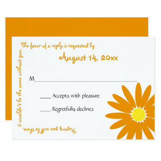 Delightful Daisy Message Text Response Card