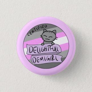 Delightful Demigirl 3 Cm Round Badge