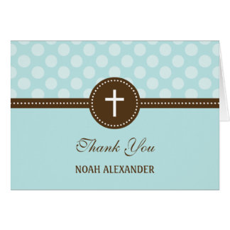 Delightful Dots Thank You Card - Blue