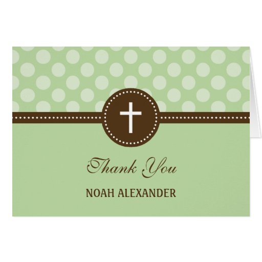 Delightful Dots Thank You Card - Green Greeting Cards