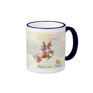 Delightful Happy Easter Wishes Coffee Mug