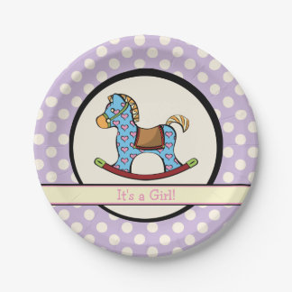 Delightful Hearts Rocking Horse Paper Plates