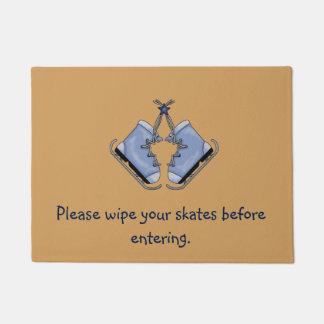 Delightful Ice Skaters Doormat
