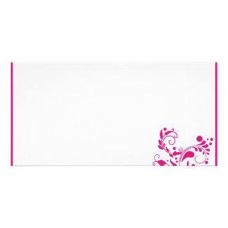 Delightful pink blossom wedding gift photo card template