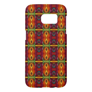 Delightful Red and Yellow African Tribal Pattern