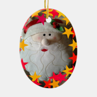 Delightful Santa Christmas ornament
