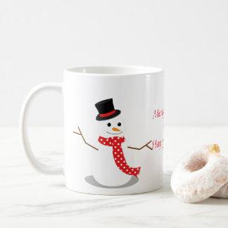 Delightful Snowman and Christmas Tree Mug