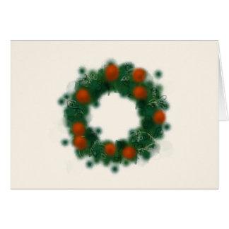 Delightful watercolor Christmas wreath Card