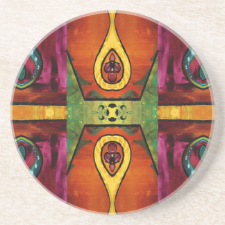 Delightfully African Pattern Sandstone Coaster