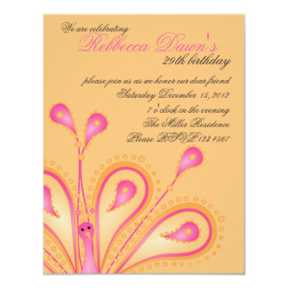 "Delightfully Feathered! 4.25"" X 5.5"" Invitation Card"