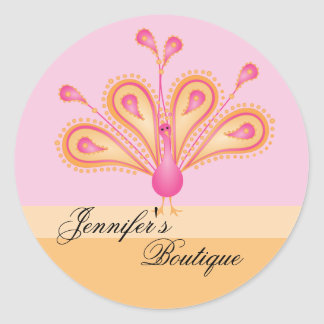 Delightfully Feathered! Round Sticker