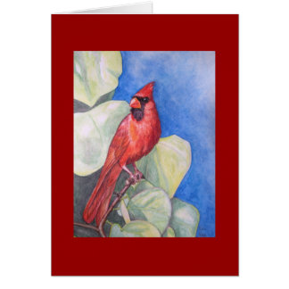 Delightfully Red Cardinal GREETING CARD
