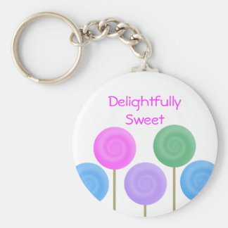 Delightfully Sweet Collection Basic Round Button Key Ring
