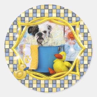 Delilah - English Bulldog Sticker