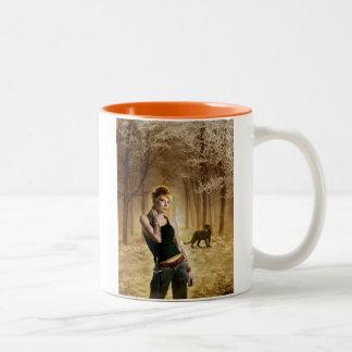 Delilah: I HAZ CATTITUDE Two-Tone Coffee Mug