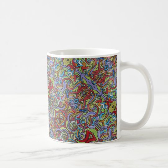 Delirious-Hand Painted Abstract Pattern Coffee Mug