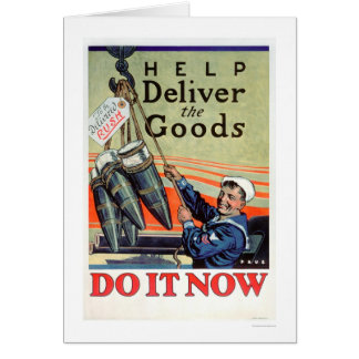 Deliver the Goods - Navy (US02293) Greeting Card