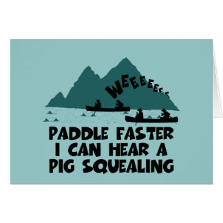 Deliverance,squeal little piggy parody greeting card