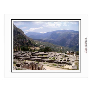 Delphi Archaeological Site Postcard