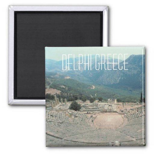 Delphi Greece Photo Travel Souvenir Fridge Magnet