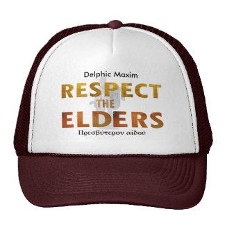 Delphic Maxim RESPECT THE ELDERS Cap